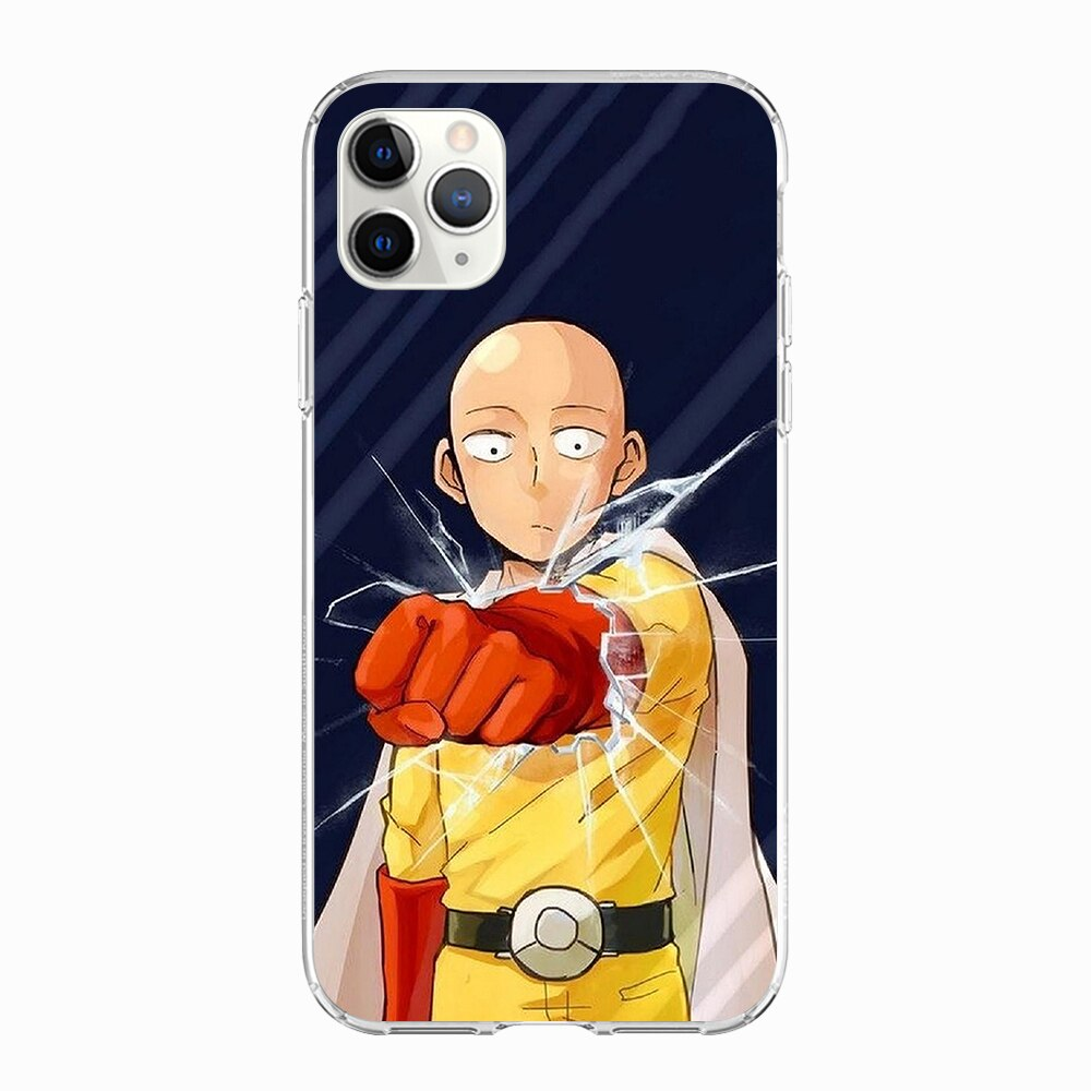 Coque One Punch Man iPhone Saitama Casse Vitre