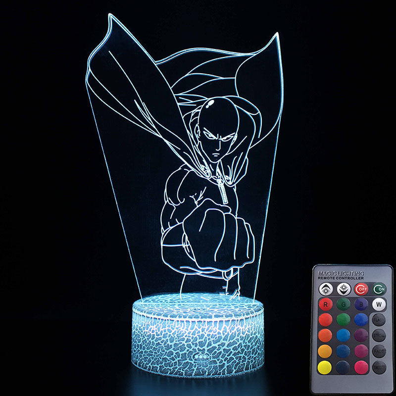 Lampe LED 3D One Punch Man Saitama Poing serré