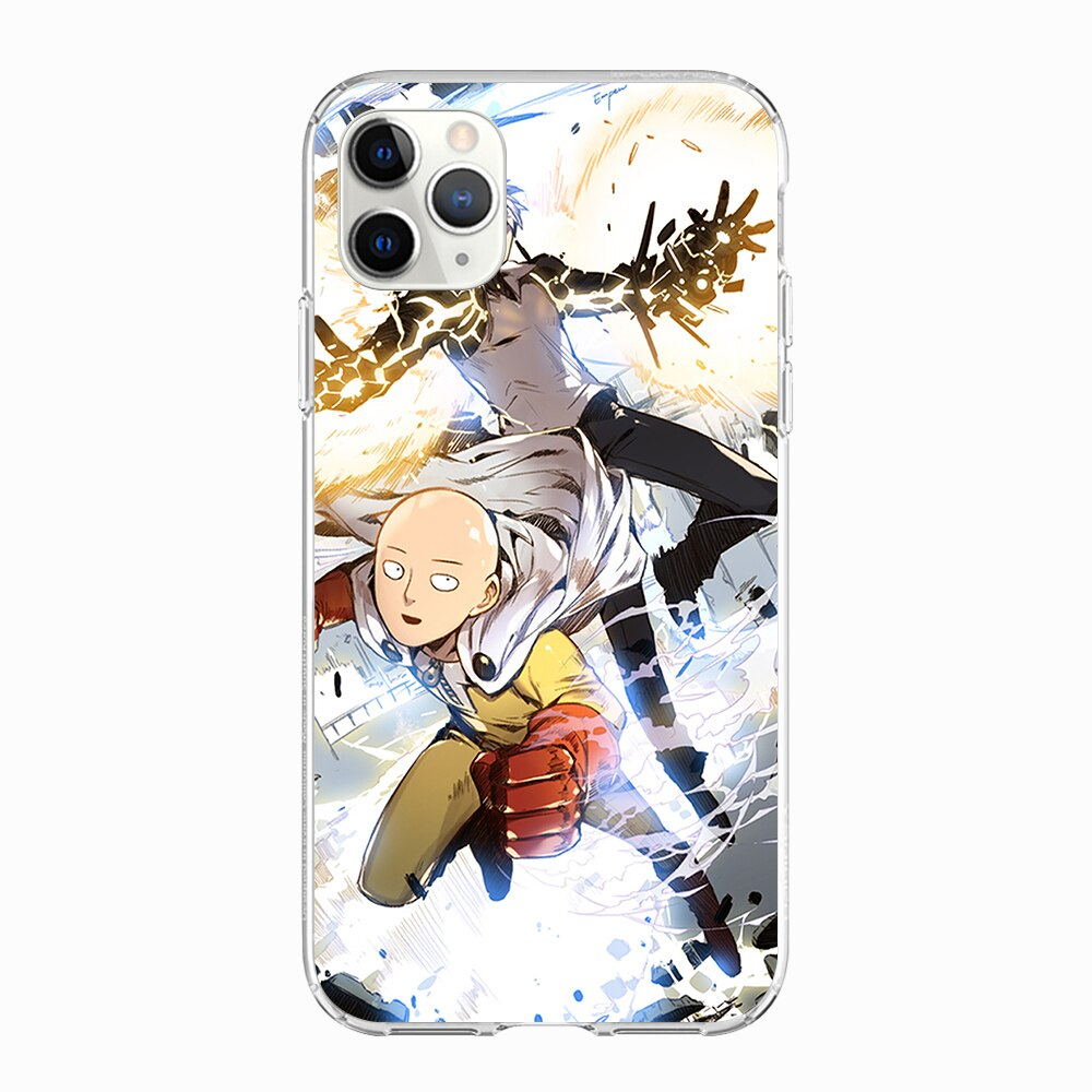 Coque One Punch Man iPhone Saitama Genos Héros