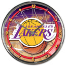 Los Angeles Lakers Clock Round Wall Style Chrome
