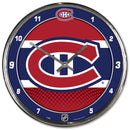 Montreal Canadiens Round Chrome Wall Clock