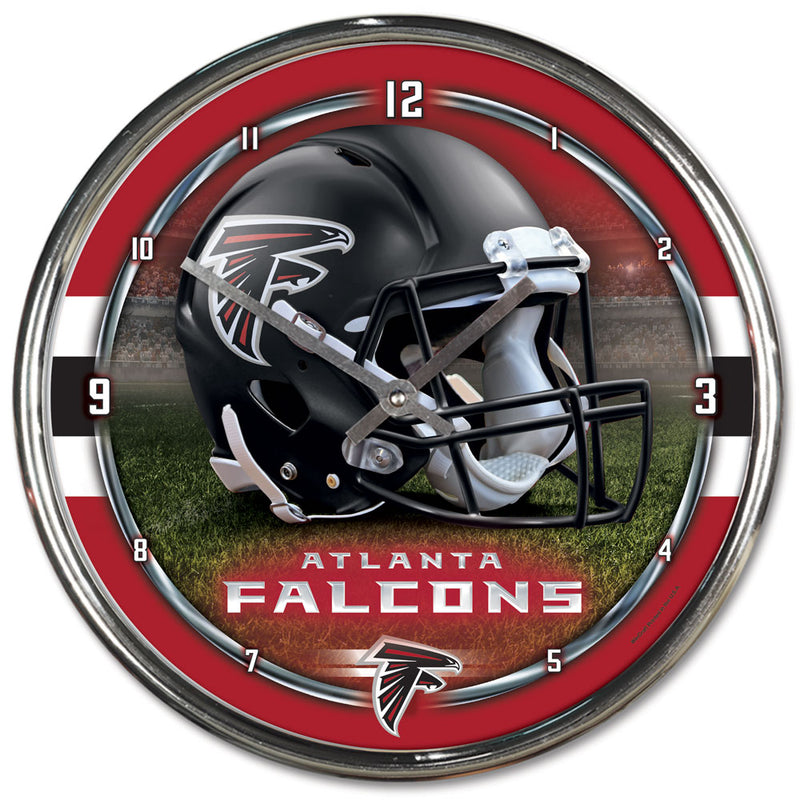 Atlanta Falcons Round Chrome Wall Clock