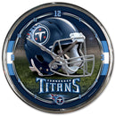 Tennessee Titans Clock Round Wall Style Chrome