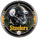 Pittsburgh Steelers Round Chrome Wall Clock