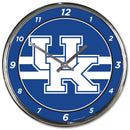 Kentucky Wildcats Round Chrome Wall Clock