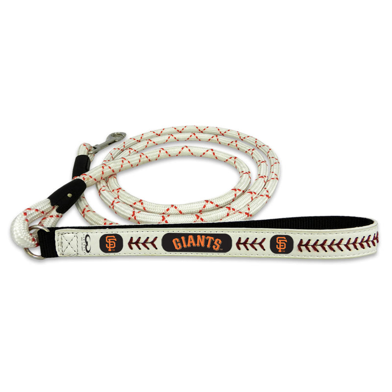 San Francisco Giants Pet Leash Leather Frozen Rope Baseball Size Medium