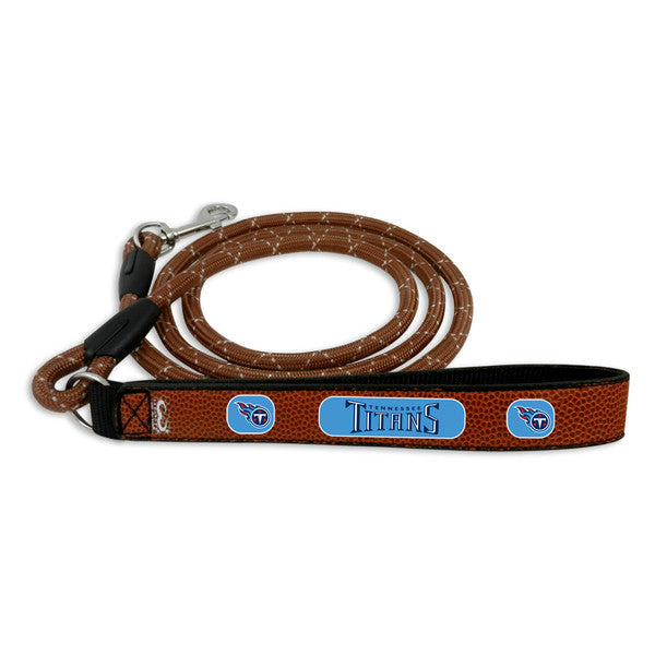 Tennessee Titans Pet Leash Leather Frozen Rope Football Size Large