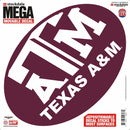 Texas A&M Aggies Decal 12x12 Mega