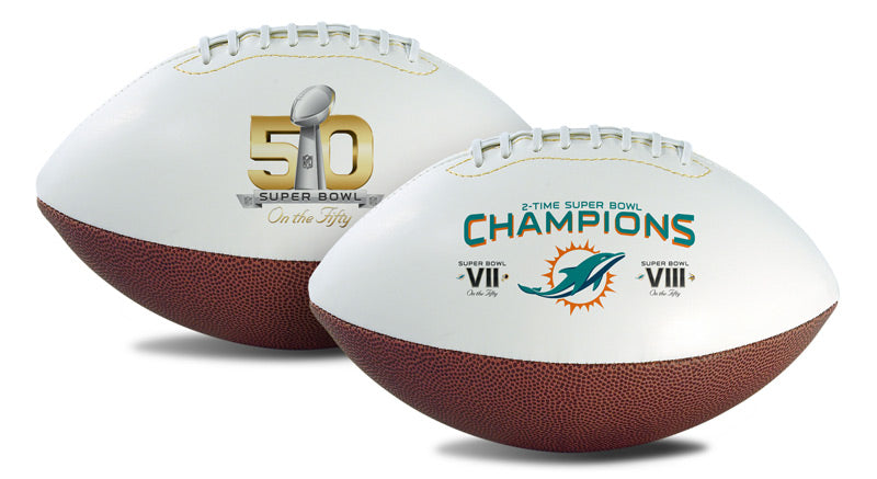 Miami Dolphins Football Full Size On The Fifty 2 Time Champ