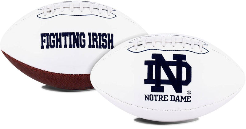 Notre Dame Fighting Irish Football Full Size Embroidered Signature Series