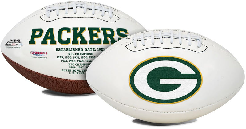 Green Bay Packers Football Full Size Embroidered Signature Series