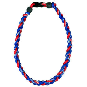 Titanium Ionic Braided Necklace Royal Blue/Red