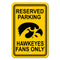 Iowa Hawkeyes Sign - Plastic - Reserved Parking - 12 in x 18 in