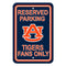 Auburn Tigers Sign - Plastic - Reserved Parking - 12 in x 18 in