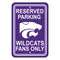 Kansas State Wildcats Sign - Plastic - Reserved Parking - 12 in x 18 in - Special Order