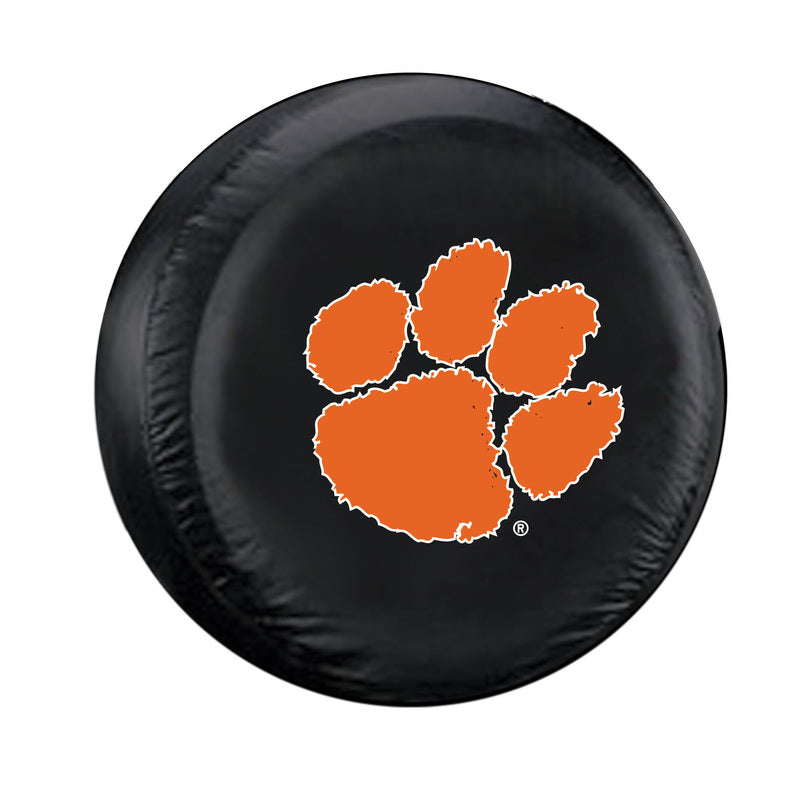 Clemson Tigers Tire Cover Standard Size Black