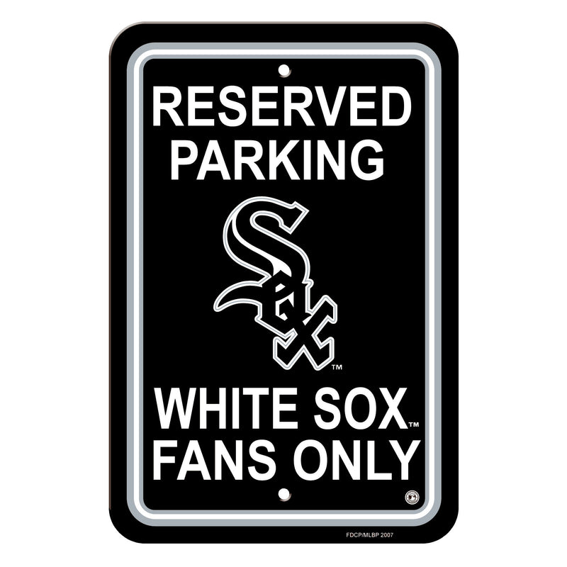Chicago White Sox Sign - Plastic - Reserved Parking - 12 in x 18 in