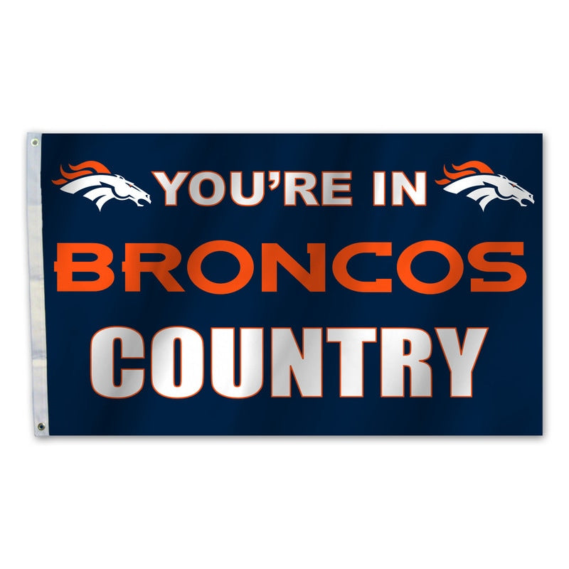 Denver Broncos Flag 3x5 Country