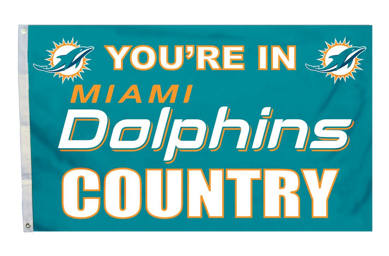 Miami Dolphins Flag 3x5 Country