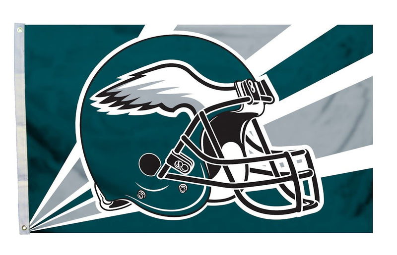 Philadelphia Eagles Flag 3x5 Helmet Design