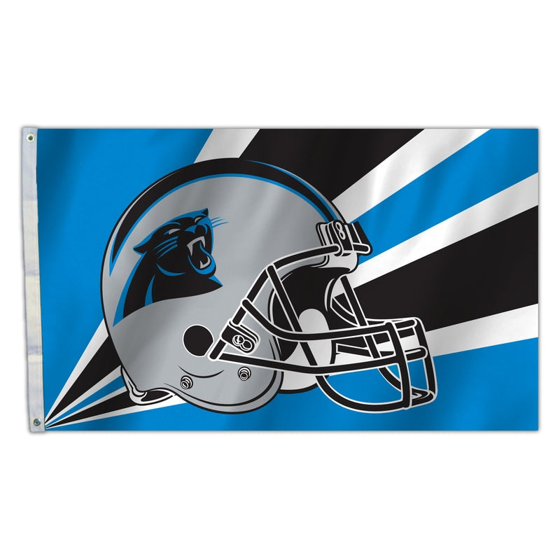 Carolina Panthers Flag 3x5 Helmet Design - Special Order