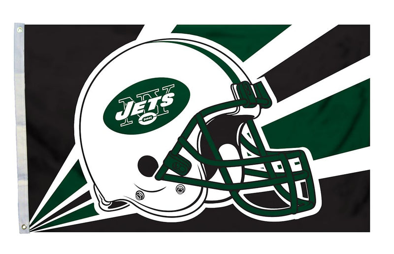 New York Jets Flag 3x5 Helmet Design
