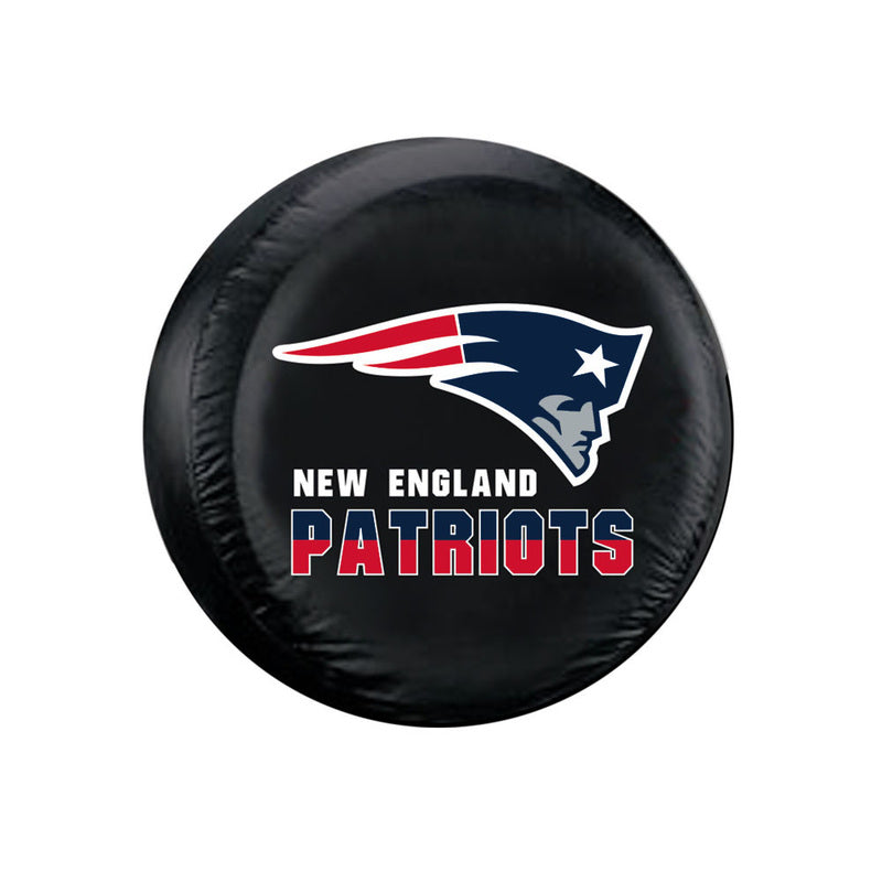 New England Patriots Tire Cover Large Size Black