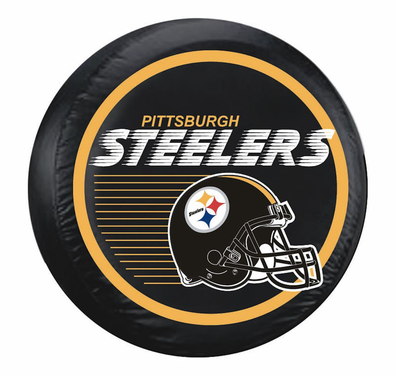Pittsburgh Steelers Tire Cover Standard Size Black Helmet Design