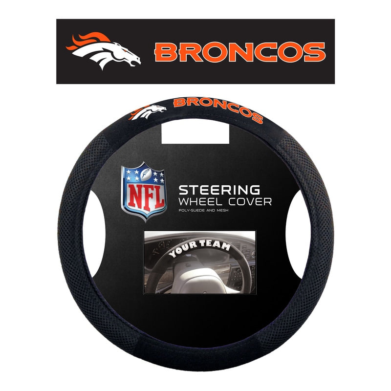 Denver Broncos Steering Wheel Cover Mesh Style