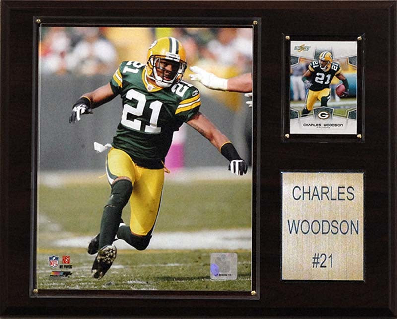 Green Bay Packers Plaque - Charles Woodson 12x15 Player