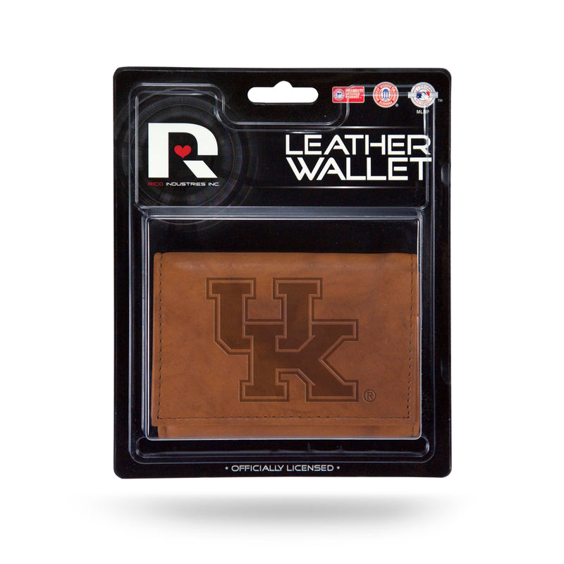 Kentucky Wildcats Leather Embossed Trifold Wallet - Special Order