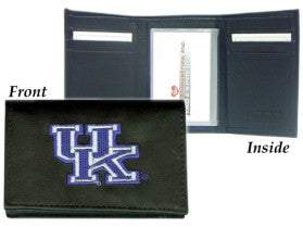 Kentucky Wildcats Wallet Trifold Leather Embroidered