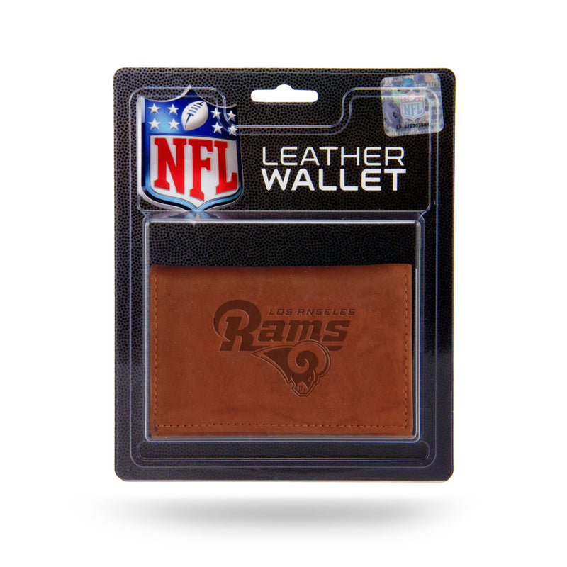Los Angeles Rams Wallet Trifold Leather Embossed