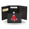 Boston Red Sox Wallet Trifold Leather Embroidered