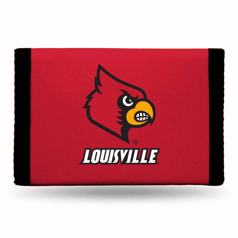 Louisville Cardinals Wallet Nylon Trifold - Special Order
