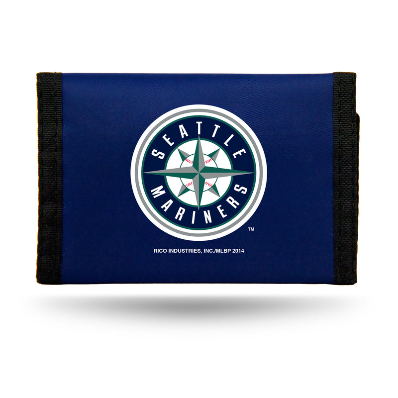 Seattle Mariners Wallet Nylon Trifold - Special Order