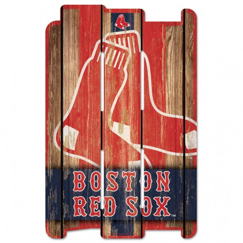 Boston Red Sox Sign 11x17 Wood Fence Style