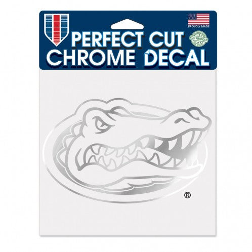 Florida Gators Decal 6x6 Perfect Cut Chrome - Special Order