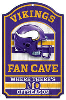 Minnesota Vikings Sign 11x17 Wood Fan Cave Design