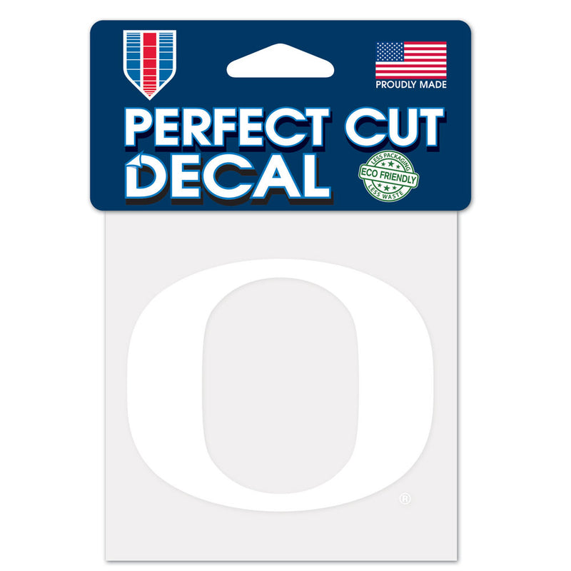 Oregon Ducks Decal 4x4 Perfect Cut White