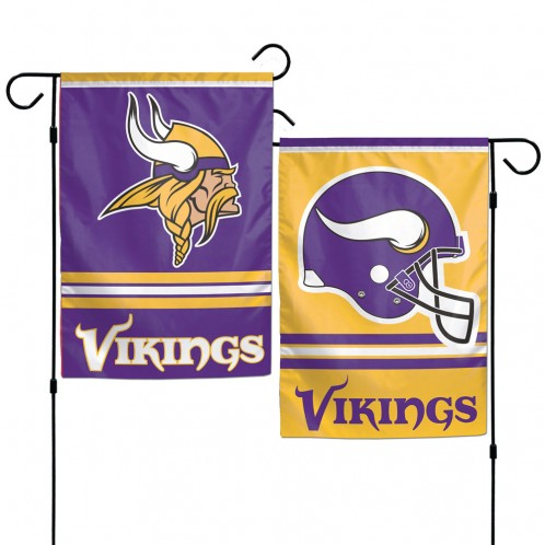 Minnesota Vikings Flag 12x18 Garden Style 2 Sided