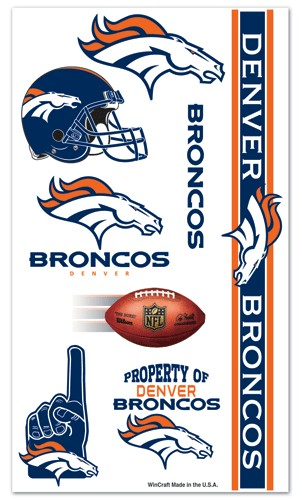Denver Broncos Temporary Tattoos
