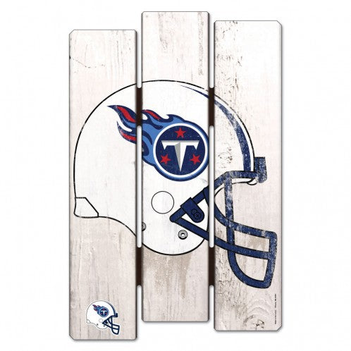 Tennessee Titans Sign 11x17 Wood Fence Style