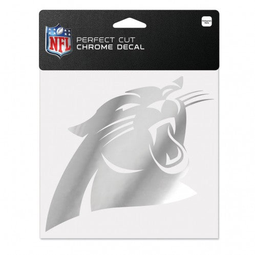 Carolina Panthers Decal 6x6 Perfect Cut Chrome