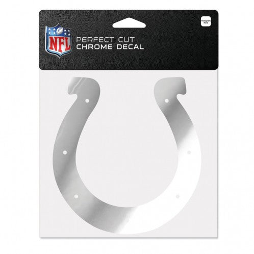Indianapolis Colts Decal 6x6 Perfect Cut Chrome - Special Order