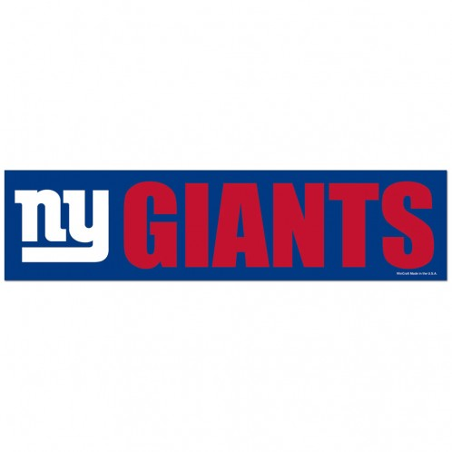 New York Giants Decal 3x12 Bumper Strip Style - Special Order