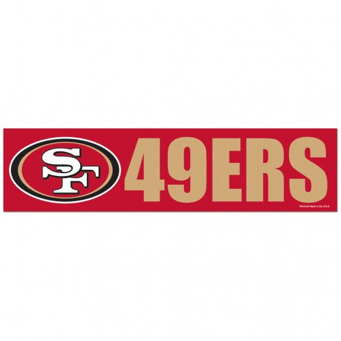 San Francisco 49ers Decal Bumper Sticker