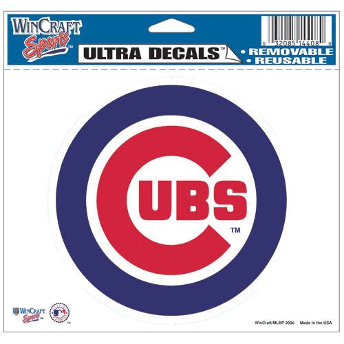 Chicago Cubs Decal 5x6 Ultra Color