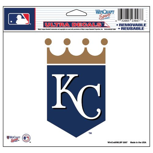 Kansas City Royals Decal 5x6 Ultra Color