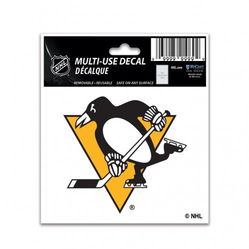 Pittsburgh Penguins Decal 3x4 Multi Use Color